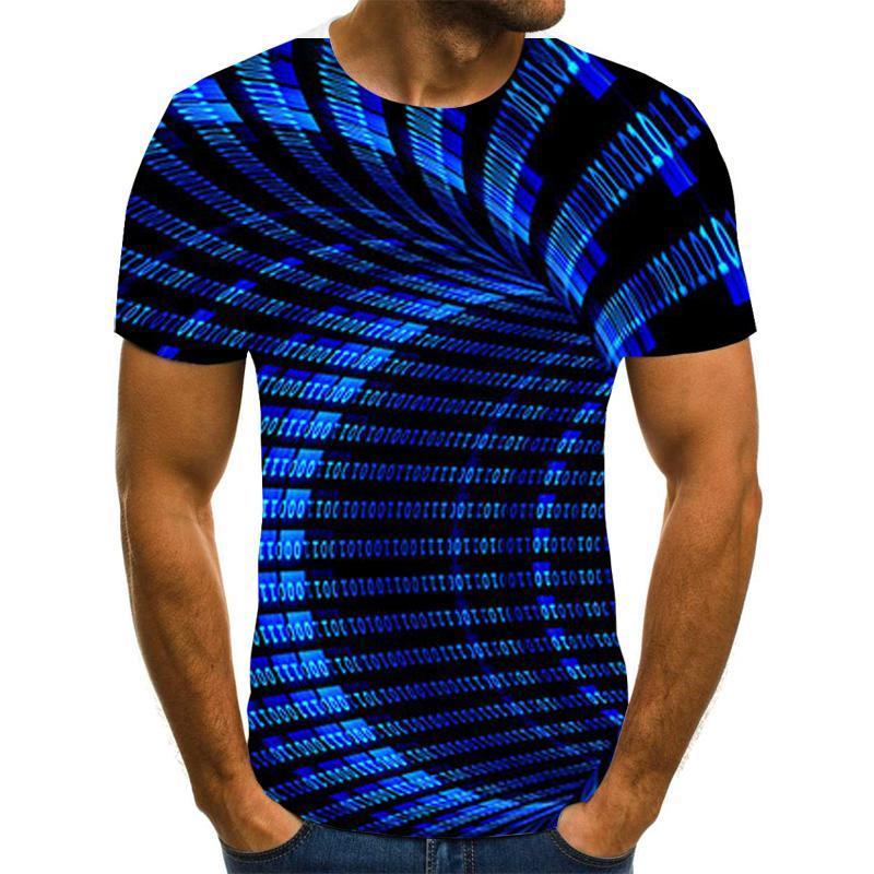 3d Tee Shirt Men 'S Summer T Shirt Vertigo Hypnotic Printed Tshirts Short Sleeve Compression Tshirt Men /Women Party T -Shirt