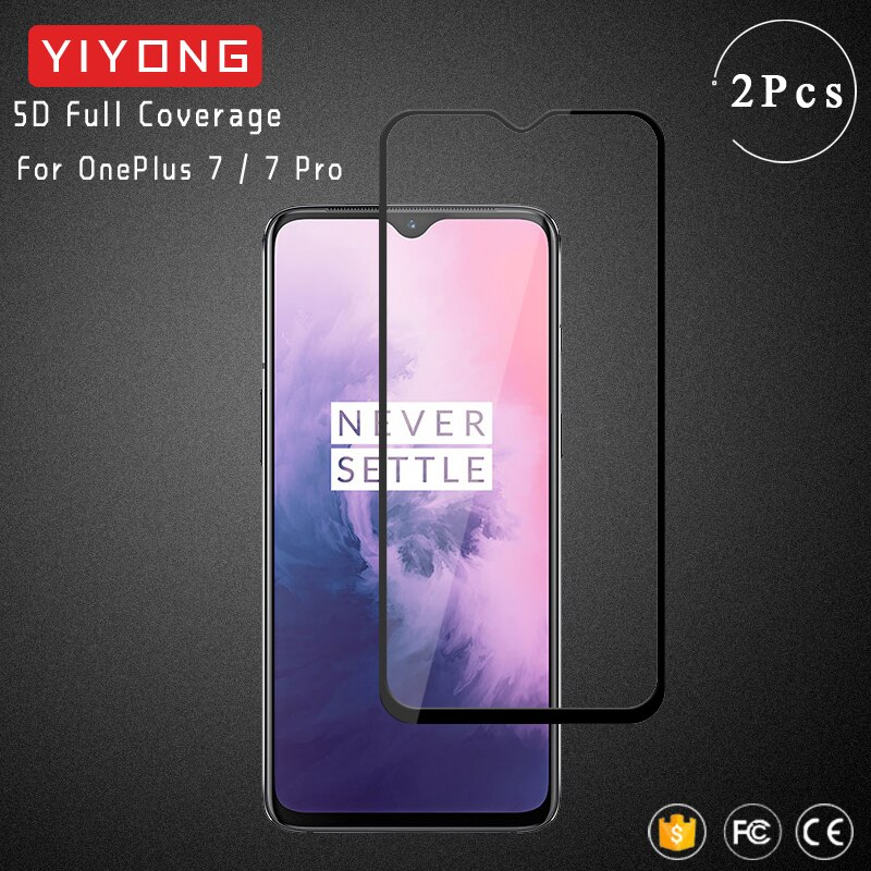 YIYONG 5D полное покрытие закаленное стекло для OnePlus 7 T 6 6T защита экрана OnePlus 7 T Pro One Plus 8 Pro 3D изогнутое стекло