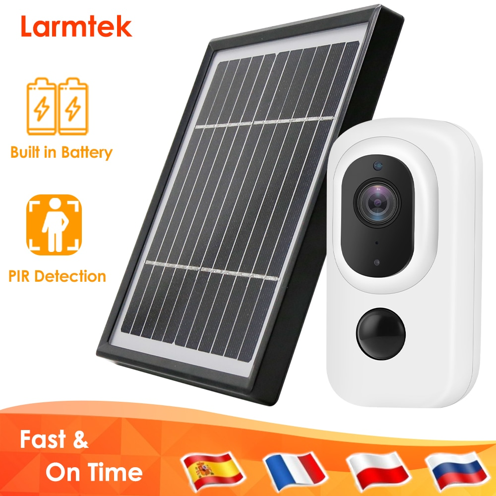 1080P WiFi IP Camera Battery Powered Wireless Home Security CCTV Camera Outdoor 3.3W Solar Panel Optional PIR Motion Detection