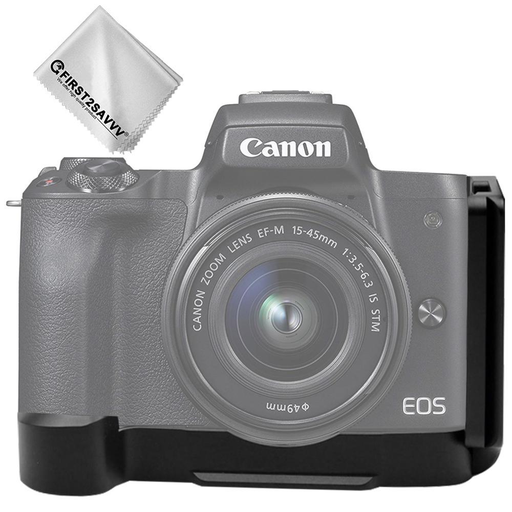 Liberación rápida L placa de Metal agarre de mano Arca Swiss soporte Compatible con Canon EOS M50 Profesional versión