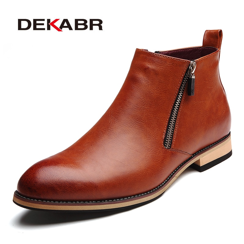 DEKABR-حذاء DEKABR 2021 ، جلدي ، للرجال, أحذية رجالية ، مريحة ، شتوية ، دافئة ، مقاومة للماء ، أحذية الكاحل ، أحذية غير رسمية ، للشتاء