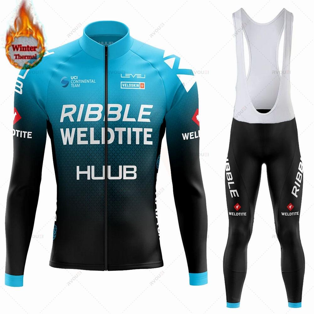 HUUB-Conjunto de Jersey de Ciclismo de lana térmica para hombre, Ropa de...
