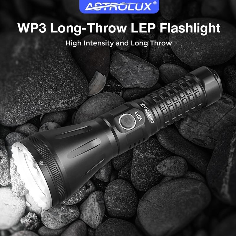 astrolux wp3 lep lanterna de longo alcance ipx6 led lanterna recarregavel luz tocha