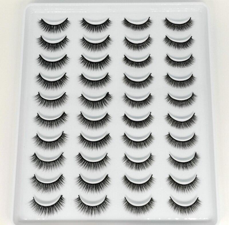 20 pares de pestañas postizas de visón 3D, pestañas largas de múltiples capas naturales/densas, maquillaje pequeño, pestañas de visón