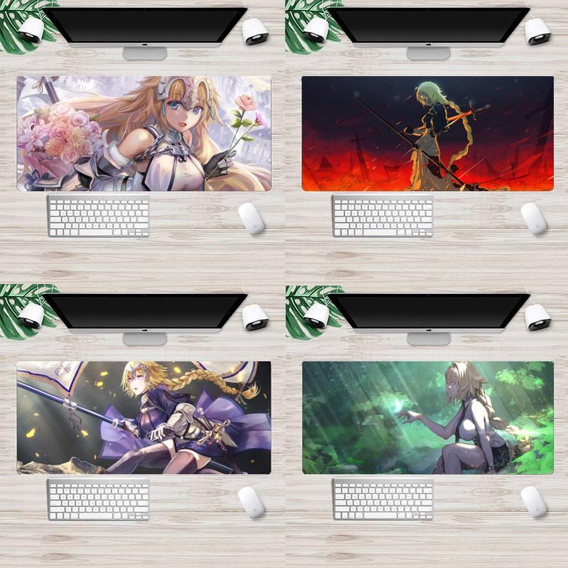 Fate Apocrypha игровой коврик для ноутбука, резиновый коврик для мыши, анимация XL, большой игровой коврик для клавиатуры, настольного ПК, коврики д...