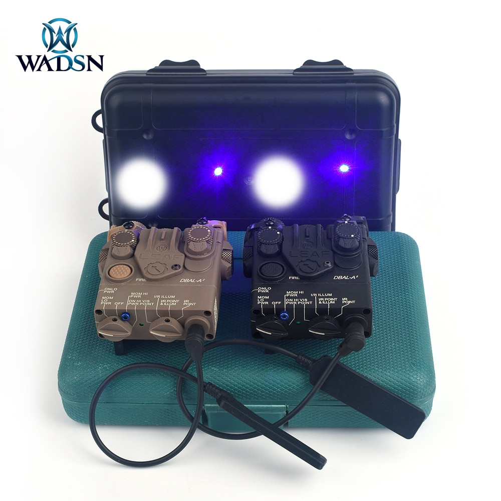 وادسن التكتيكية DBAL A2 الأزرق دوت البصر بالليزر كشاف ضوء بندقية الصيد و PEQ15 الادسنس DBAL سلاح مصباح يدوي دون IR الليزر
