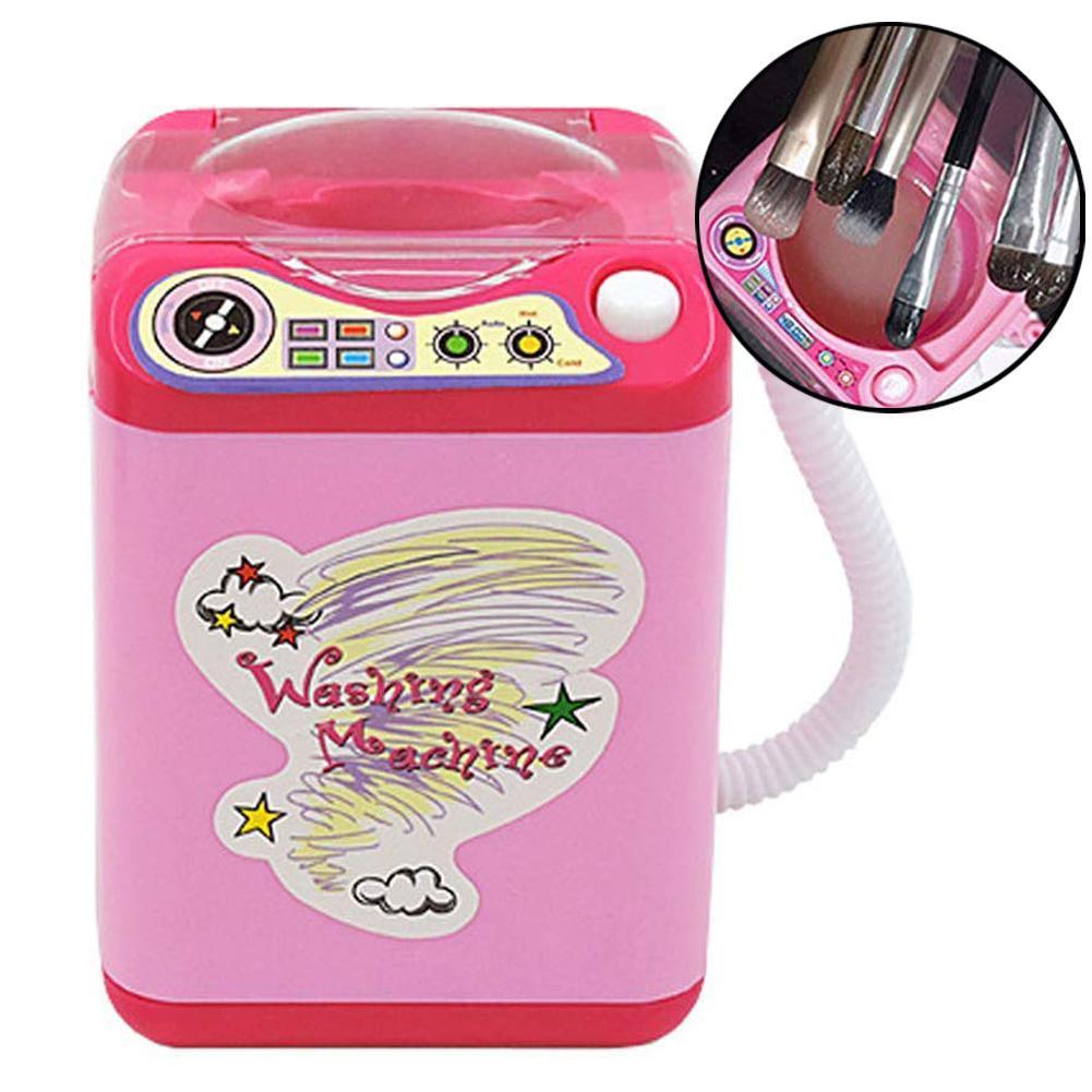 Мини-приспособление для очистки косметических кистей автоматическая очистка стиральная машина ролевые игры игрушки куклы девушки макияж ...