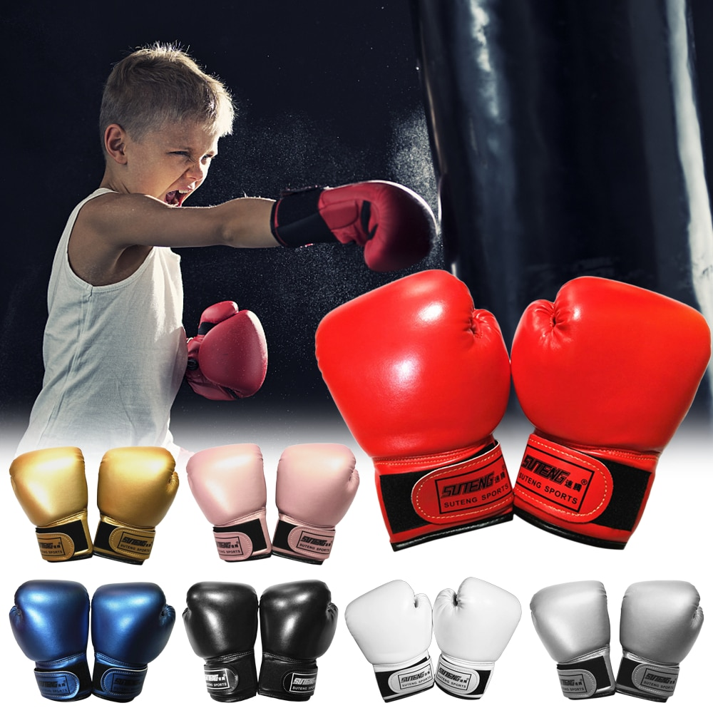 Kinder Boxen Handschuhe Kick Boxing Muay Thai Stanzen Training Bag Handschuhe Outdoor Sport Handschuhe für Punch Tasche Sack Boxen Pads
