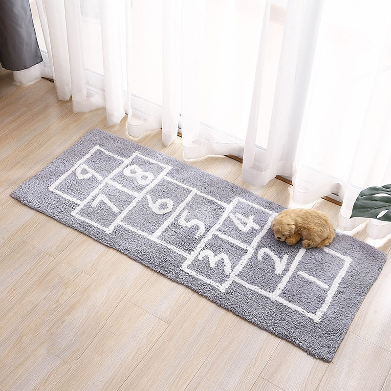 أرقام منطقة البساط Tapetes المطبخ البساط بساط الشقي Chambre هل بساط Fourrure القطن الطابق حصيرة السجاد ماتس نوم الأزرق الرمادي