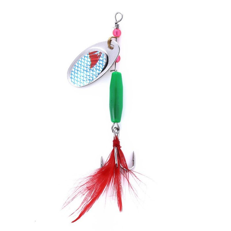 6pcs Fishing Lure Fishing Spinner Bait Spoon Lure Metal Baits Treble Hook Artificial Lures Fishing Tackles Accessories enlarge