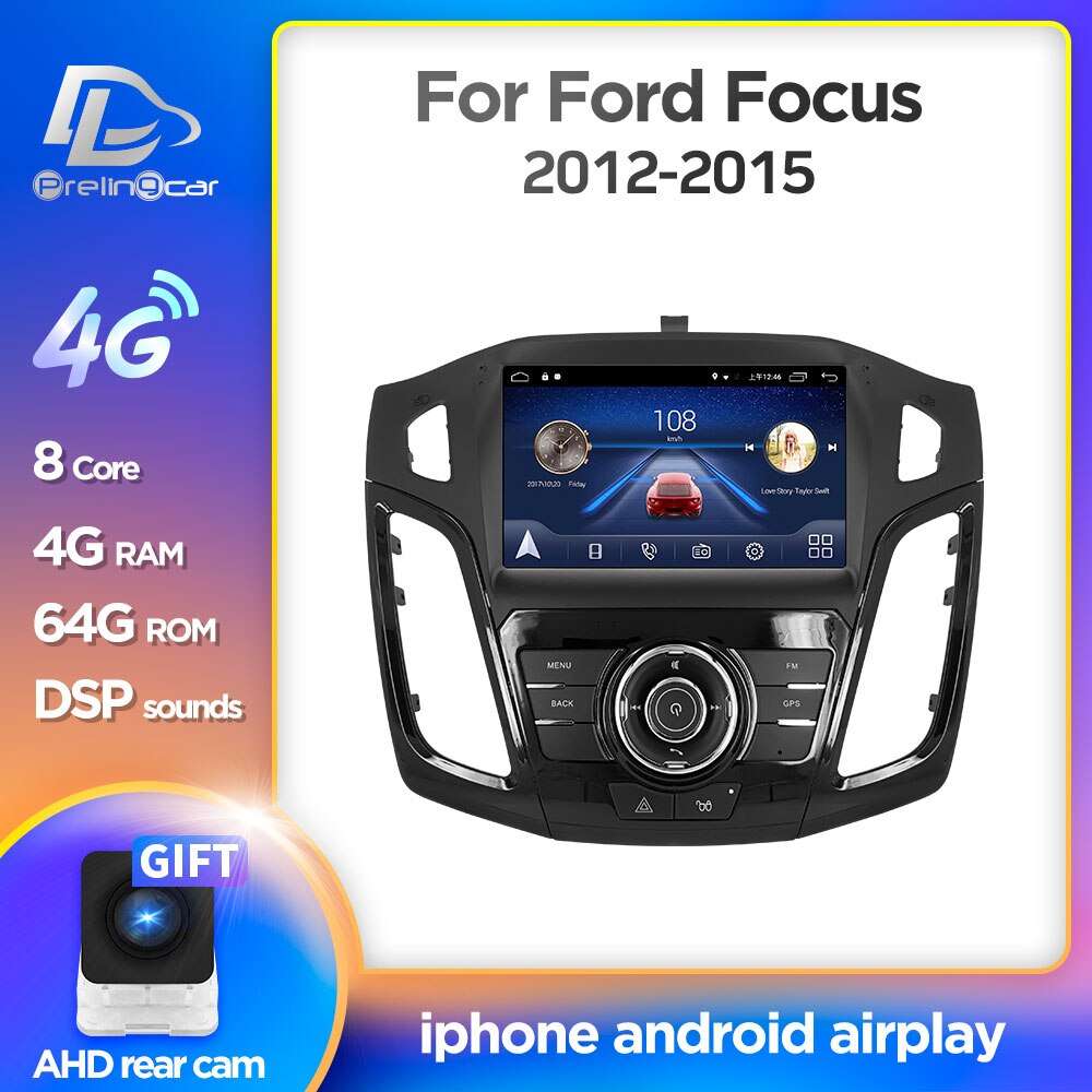 Android 10.0 System Car IPS Touch Screen Stereo For ford focus 2012 2013 2014 2015 years player Ster