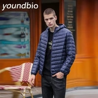 m 6xl new down jacket mens autumn thin section hooded coat youth slim coat down jackets white duck down jacket male