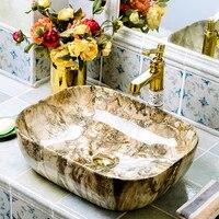 5039cm vanity above counter basin retro ceramic household european style bathroom creative bathroom art bathroom vanity basin