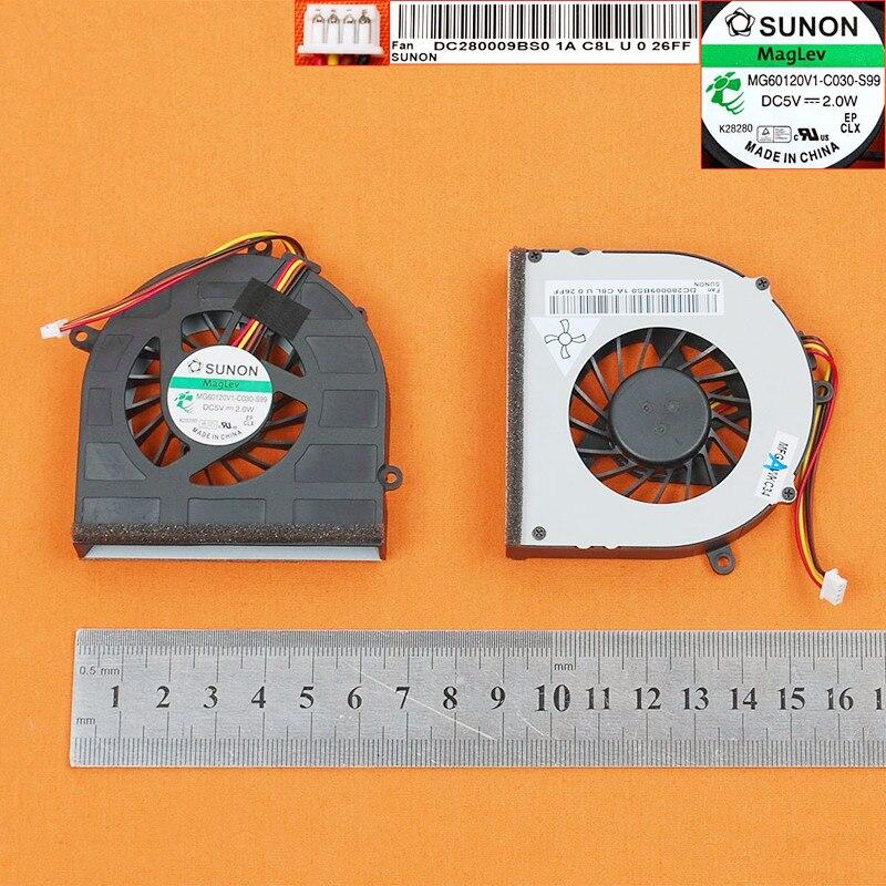 Nueva computadora portátil ventilador de refrigeración para Lenovo G470 G470A G470AH G475 G570 G575 (Original) PN DC280009BS0 MG60120V1-C030-S99 KSB05105HC-AG53