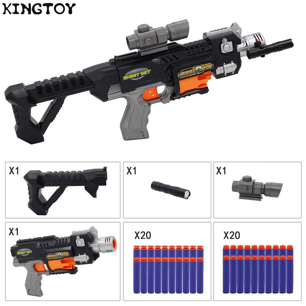 Kids Toys Electric Burst Soft Bullet Gun Suit for Nerf Bullets Toy Rifle Gun Dart Blaster Children's Best Gift Toy Gun 713
