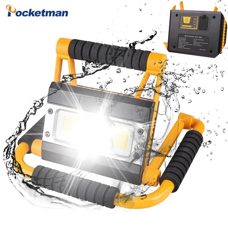 Linterna LED portátil de 100W, linterna de trabajo recargable por USB, linterna de Camping resistente al agua, linterna de búsqueda para exteriores para caza de peces