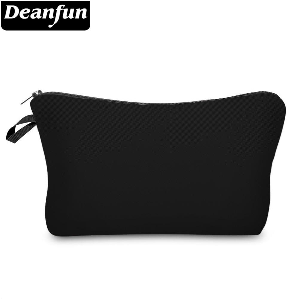 Маленькая Водонепроницаемая косметичка Deanfun для женщин, Подарочные косметички черного цвета для девушек, дорожные сумки для хранения 51705