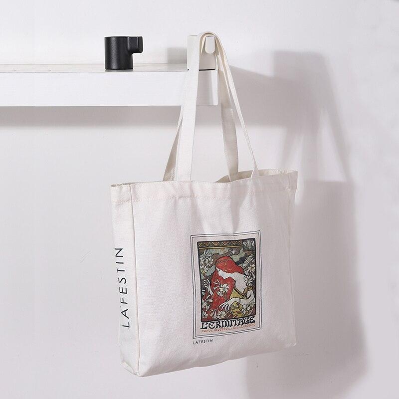 LA FESTIN 2021 جديد سعة كبيرة حقيبة يد عادية حقائب من القماش حقيبة بسيطة 14 بوصة كمبيوتر محمول A4 حقيبة الإناث المحمولة حقيبة الإناث الموضة