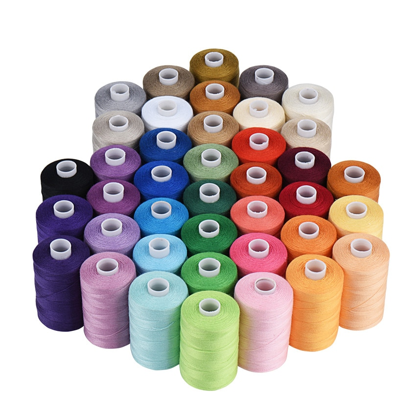 Sewing Thread 10 Colors Set 40S/2 For Sewing Machine,Quilting,Hand Sewing