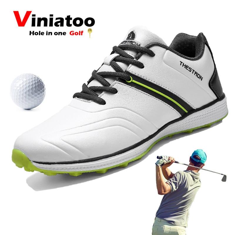 2020 zapatos deportivos impermeables para hombre para Golf, zapatos de Golf antideslizantes para exteriores, cómodos y ligeros, zapatillas de Golf atléticas