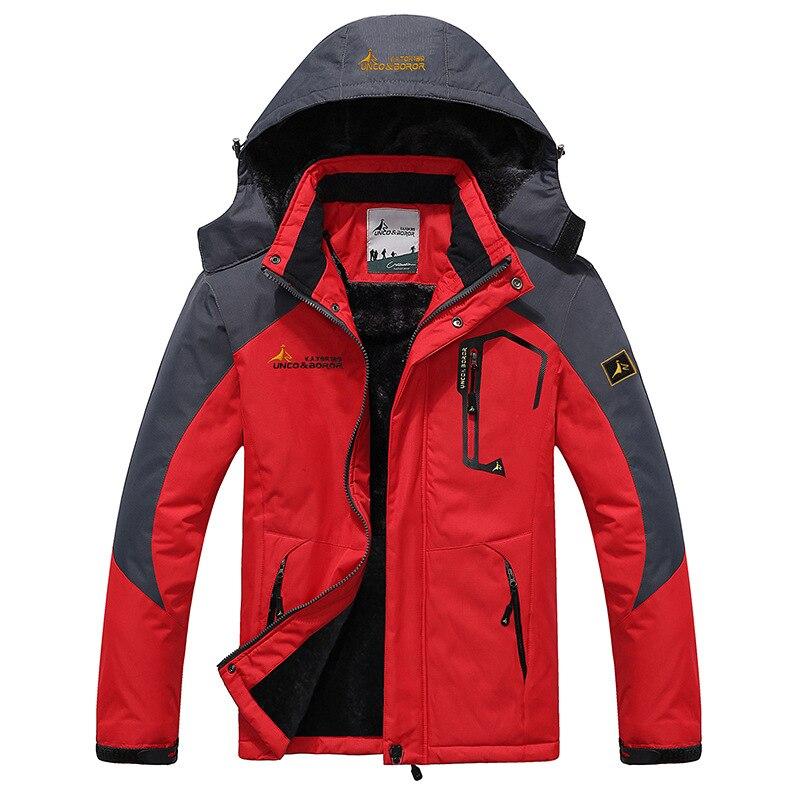 Мужская лыжная куртка, зимняя теплая флисовая куртка, уличная спортивная ветрозащитная водонепроницаемая куртка, куртка для кемпинга, пеше...