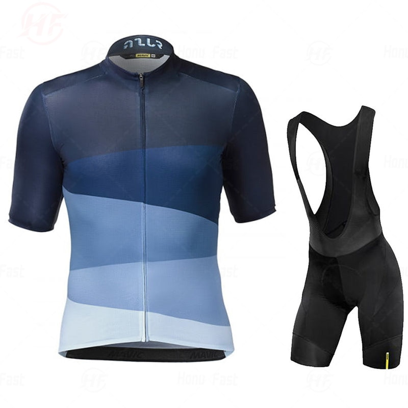 Team Mavic-camisetas de Ciclismo, Ropa de secado rápido, conjuntos de gel, uniformes,...