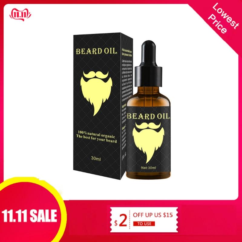 100% natural 30 ml acelerar o cabelo facial crescer barba óleo essencial cabelo e barba crescimento óleo men barba grooming produtos tslm2