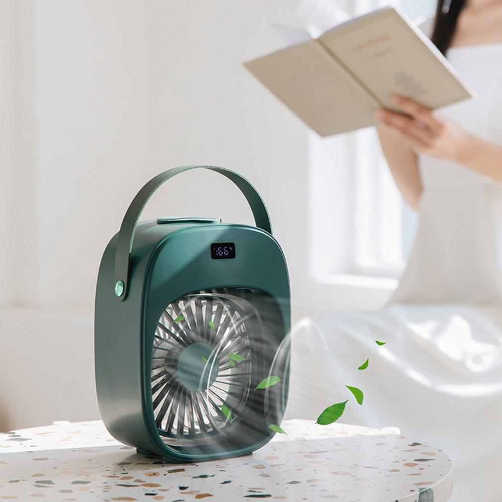 D18 Desktop Fan Rechargeable Household Third Gear Wind Spray Fan Refrigeration Fan For Office Dormitory
