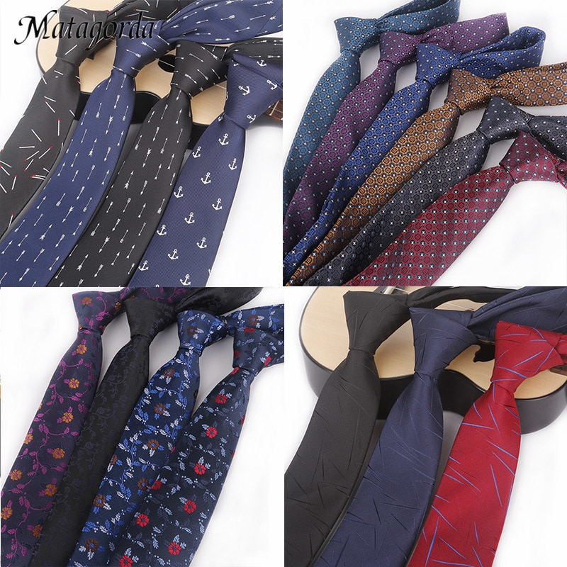 Matagorda 1200 Pins Men Tie 6cm Skinny Necktie Paisley Flower Floral Dress Accessory Cravate Business Wedding Neckwear Gravata недорого