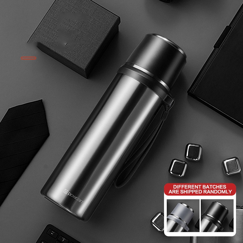 حار عالية الجودة في الهواء الطلق الفولاذ المقاوم للصدأ Termos سعة كبيرة الحرارية كوب لشرب القهوة زجاجة ماء الترمس 6 اللون 500/800/1000 مللي