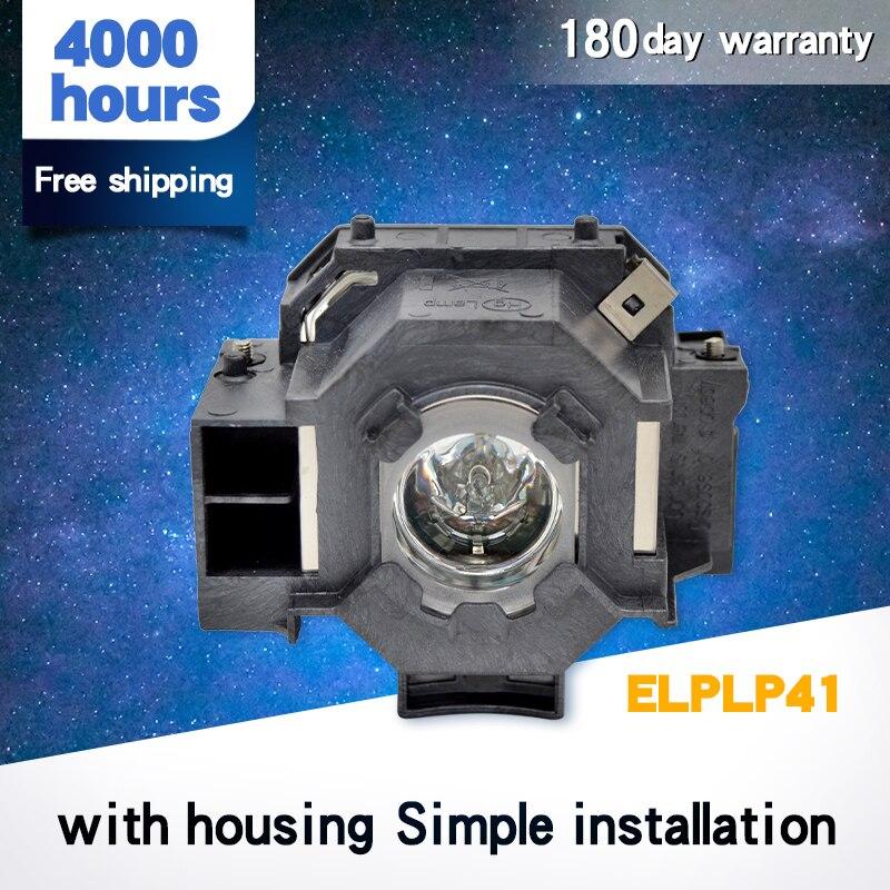 Proyector de alta calidad V13H010L41/ELPLP41 bombilla desnuda/lámpara para Epso n PowerLite S5/S6/77C/78, EMP-S5, EMP-X5, H283A, HC700