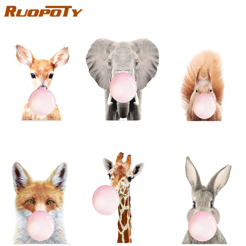 RUOPOTY Frame DIY Bubble Animals Painting By Numbers Kits For Adult Picture By Numbers Modern Wall Art Handpainted For Home Arts