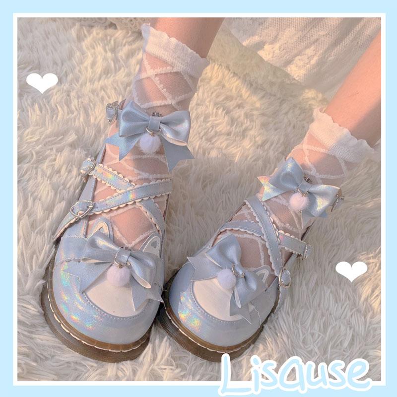 النساء أحذية الأصلي لوليتا رئيس مستديرة اليابانية لطيف طالب موحدة مستديرة كبيرة رئيس لوليتا أحذية الكعوب للنساء