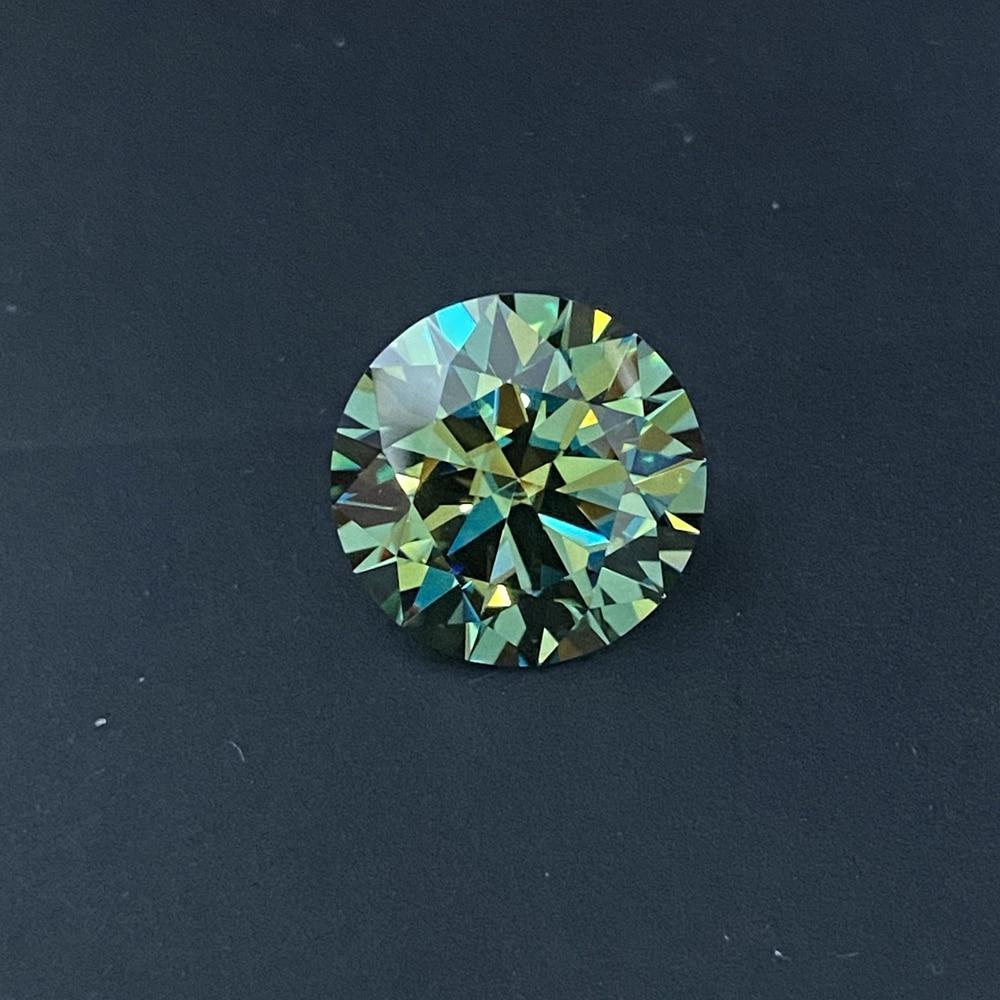 Meisidian أحدث لون VVS1 4 قيراط 10 مللي متر حية الأخضر الداكن مويسانيتي الماس سعر للقيراط خاتم الخطوبة
