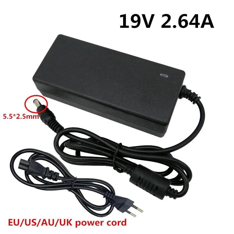 19V 2.64A 5.5*2.5mm AC DC Adaptor Power Adapter 5.5x2.5mm Laptop adaptador Output 19V2.64A Supply Ch