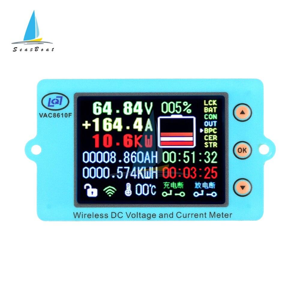 مقياس فولتميتر لاسلكي تيار مستمر 100 فولت 500 فولت 100A 200A 500A مقياس فولتميتر التيار الكهربائي مقياس قدرة البطارية جهاز قياس الجهد الكهربائي
