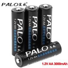 PALO 4-16 pièces 1.2V nimh 3000mAh Rechargeable AA batterie AA 2A batterie de pré-charge pour jouets caméra lumière faible auto-décharge batterie