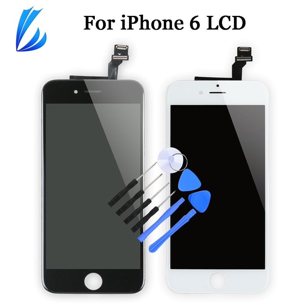 Pantalla táctil para iPhone 6 6g, Pantalla LCD, reemplazo de Pantalla para iPhone6 6g LCD, montaje de digitalizador sin píxeles muertos + herramientas