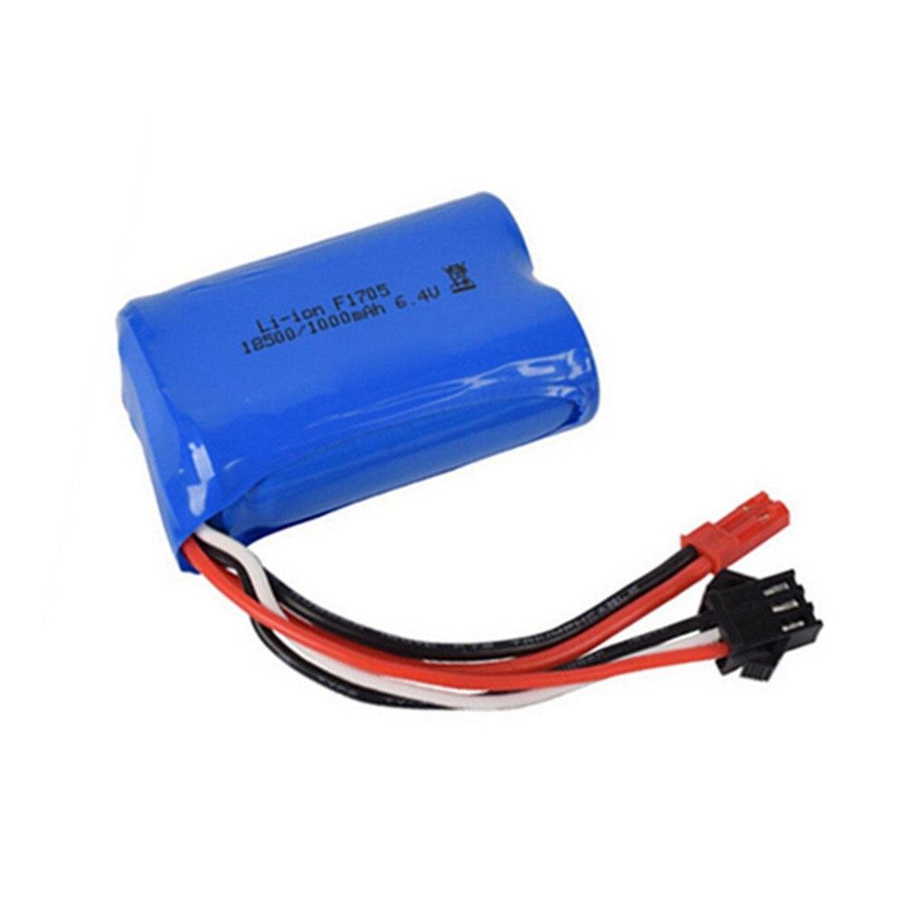 Batería de iones de litio de 6,4 v, 1000mah, 800mah, 750mah, 500mah y 320mah para coche de control remoto wltoys L959, batería de 18628 6,4 v para coches de control remoto, coches, barcos y camiones