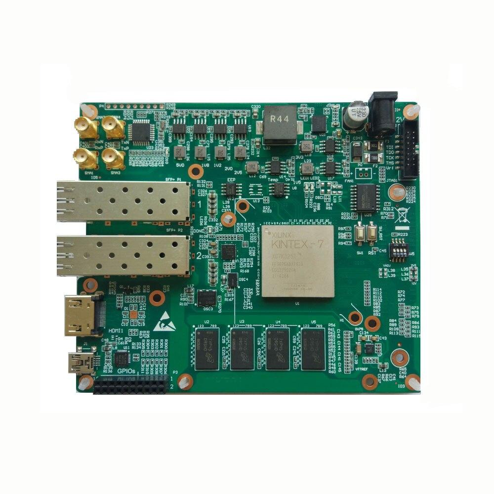 لوحة تطوير Xilinx FPGA Kintex7 Kintex-7 XC7K325T مع منفذ شبكة SFP + 10G 256Mbit FLASH 2GByte DDR3 HDMI متوافق