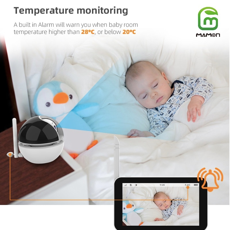 MAMON Baby Monitor Video and Audio with Camera Two Way Talk  5