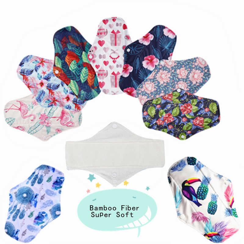Simfamily 10pcs Bamboo Fiber Sanitary Pads Regular Flow Pads Reusable Health Higiene Feminina Menstrual Cloth Pads Maternity Pads Aliexpress