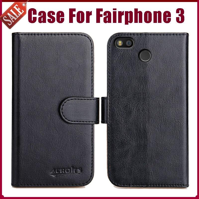 """¡Caliente! Fairphone 3 5,65 """"6 colores Flip de cuero suave para el teléfono funda billetera con soporte funda funcional ranuras para tarjetas de crédito"""
