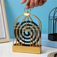 creative mosquito repellent coil holder nordic retro iron birdcage shape mosquito repellent incenses rack home decoration