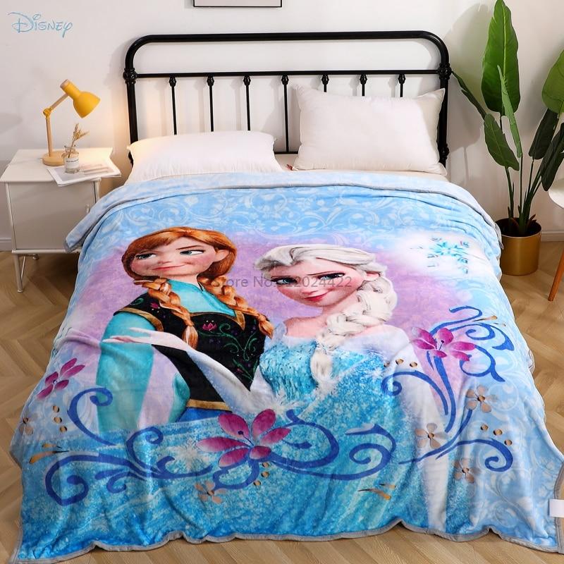 ديزني المجمدة الكرتون بطانية آنا إلسا مطبوعة لينة الفانيلا ملاءة للأطفال بنين بنات رمي أغطية السرير 200x230cm