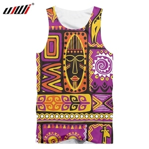 UJWI Summer Man 3D Vest High Quality Breathable Tank Top Comfortable African Animal Graphic Print Sleeveless Top Fashion Flowers