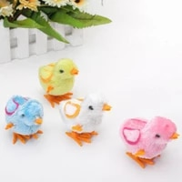 colorful cute little toy random color perfect gift for kids boys girls stuffed chicken chain clockwork chick chicken