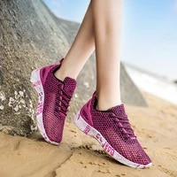 women sneakers summer outdoor sports shoes leisure comfort lace up plus size 46 zapatos de mujer beach mesh couples casual shoes