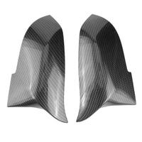 1 Pair Carbon Fiber Car Rear View Mirror Cover Cap For Bmw F20 F22 F30 F31 F32 F33 F36 F34 F35 Side Mirror Cover Trim 51167292