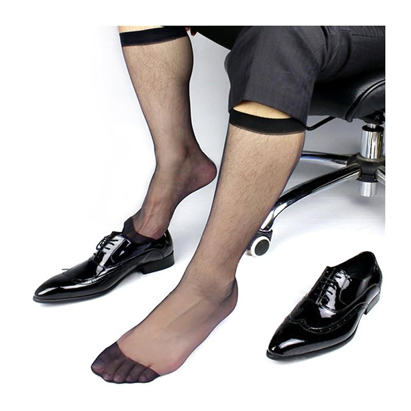 Мужские ультратонкие черные носки, Длинные визуальные мужские носки TNT для костюма, официальный стиль, бесплатная доставка